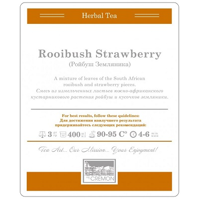rooibush strawberry cremon tea